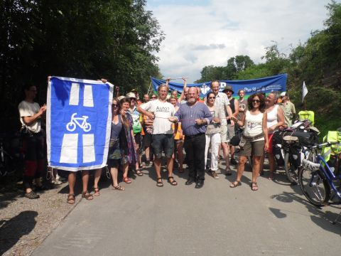 """feierliche """"Eröffnung"""" des Radschnellwegs Ruhr"""