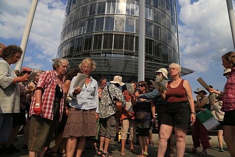 Kundgebung vor RWE