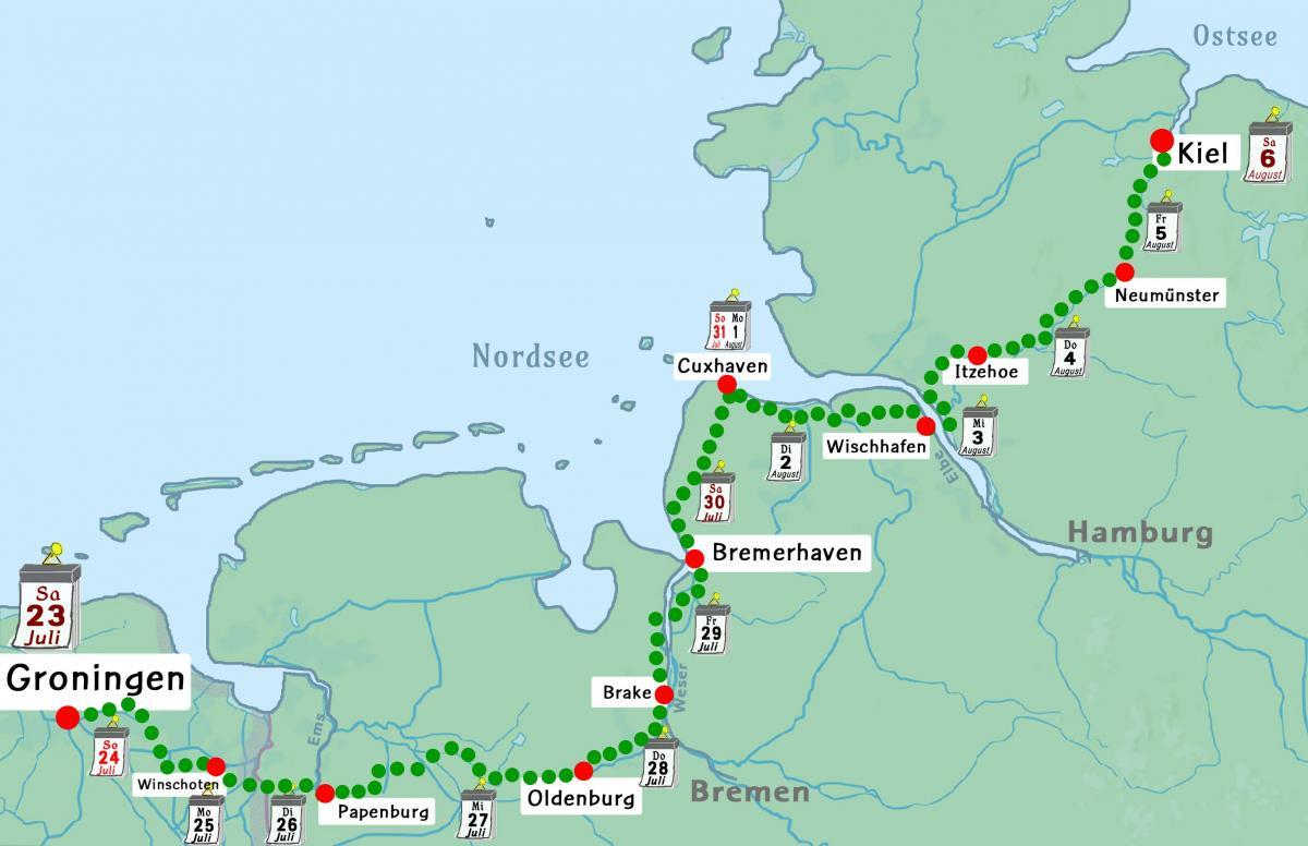Streckenkarte Tour de Natur 2016