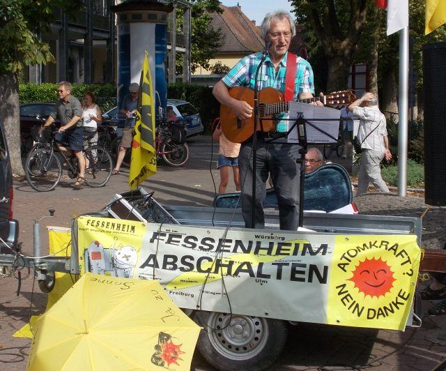 Roland Burkhardt Urgestein des Anti-Atom-Widerstand