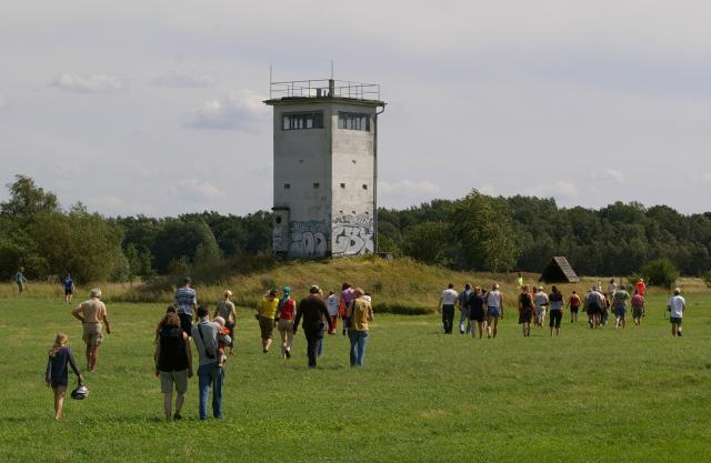 Wachturm an der ehemaligen Grenze