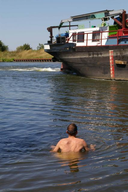 Badepause am Mittellandkanal