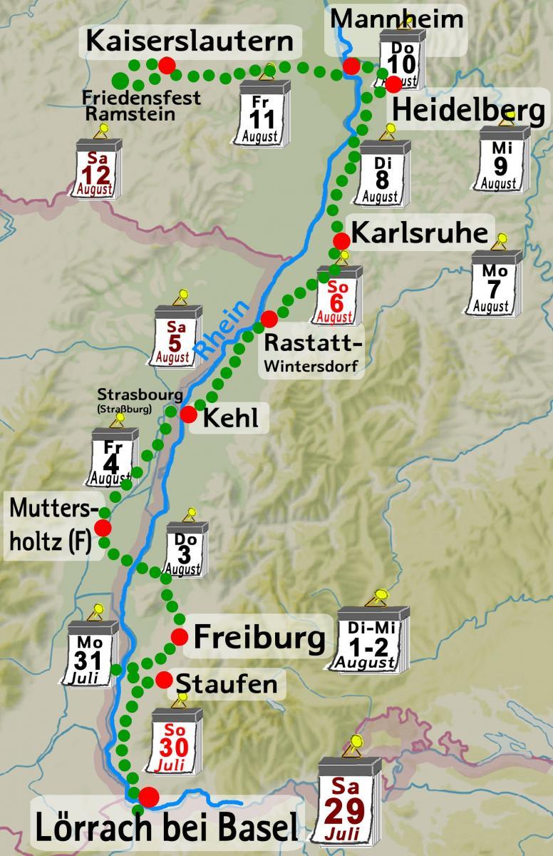 Streckenführung der Tour de Natur