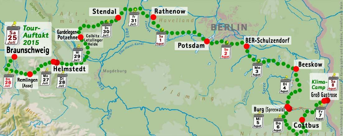 von Braunschweig nach Kerkwitz/Lausitz