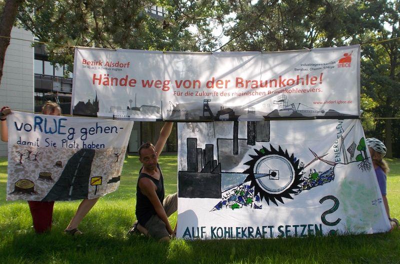 Banner bei RWE Power (Ex-Rheinbraun) in Köln