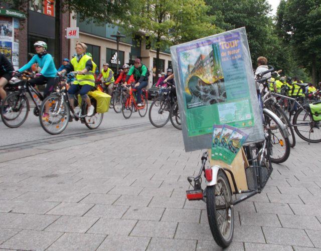 Tourplakat auf der Hamburger Fahrrad-Sternfahrt