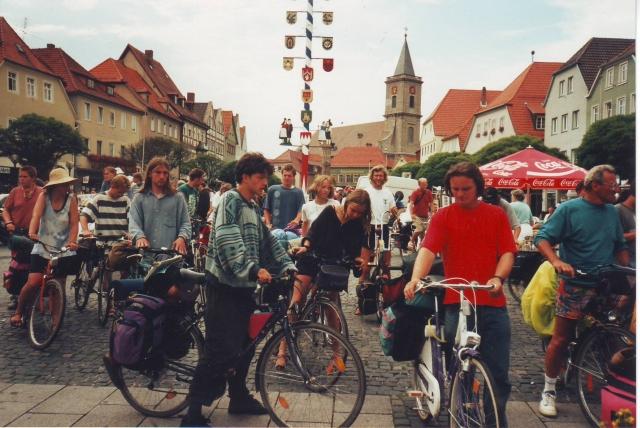 Tofu beim Start der Tour 1995