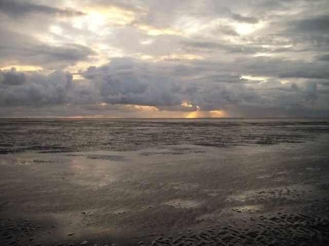 Watt bei Sonnenaufgang