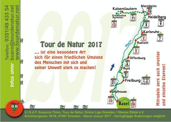 rückseite der Postkarte für die Tour de natur 2017