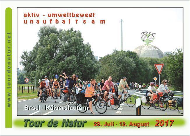 vorderseite der Postkarte für die Tour de Natur 2017